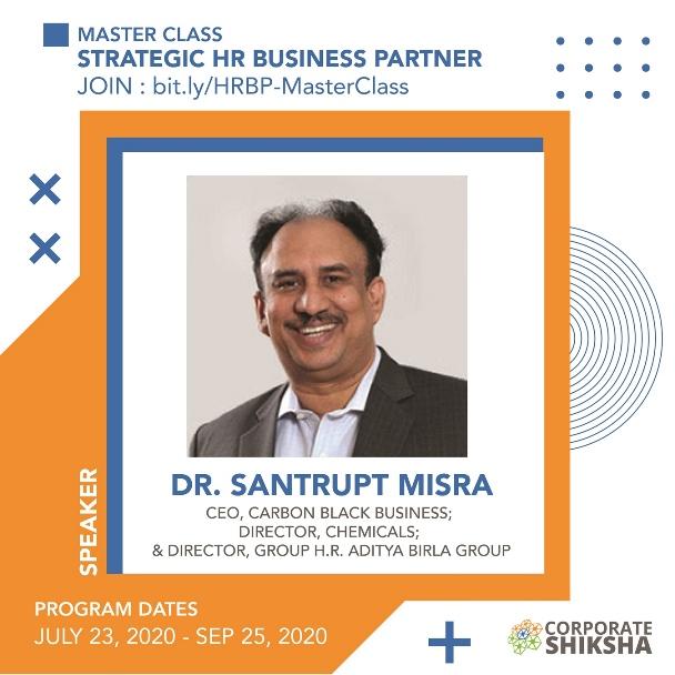 Dr. Santrupt Misra at Corporate Shiksha Master Class on Strategic HR Business Partner