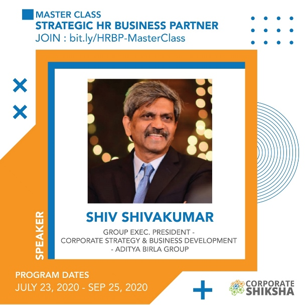 Shiv ShivaKumar at Corporate Shiksha Master Class on Strategic HR Business Partner
