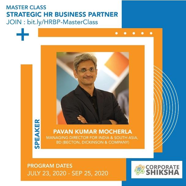 Pavan Kumar Mocherla at Corporate Shiksha Master Class on Strategic HR Business Partner